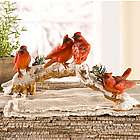 Cardinals on Snowy Branch Table Sculpture