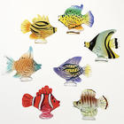 Blown Glass Fish Sculpture Set