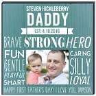 What Makes Daddy Great Custom Photo Wall Panel