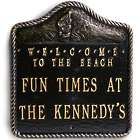 Personalized Welcome To The Beach Aluminum Sign