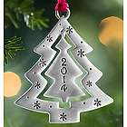 2014 Pewter Christmas Tree Ornament