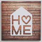 Home Is Love Personalized Canvas Print