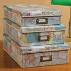 World Map Decorative Boxes