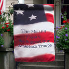 Personalized American Flag Garden Flag
