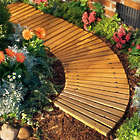 6' Curved Red Cedar Pathway for Yard