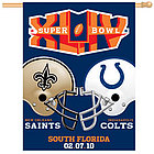 Super Bowl XLIV Indianapolis Colts/New Orleans Saints Flag