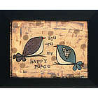 You Are My Happy Place Framed Folk Art Print