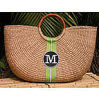 Monogrammed Shorty Basket Bag