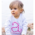 Personalized Polka Dot Initial Tee Shirt