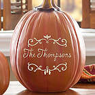 Bat Family Large Personalized Pumpkin