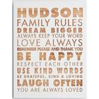 Personalized Dream Bigger Family Rules Wall Art
