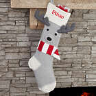 Reindeer Personalized Knit Stocking