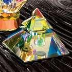 Crystal Pyramid Perfume Bottle