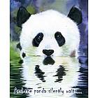 The Silent Panda Personalized Print
