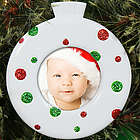 Polka Dot Photo Christmas Ornament