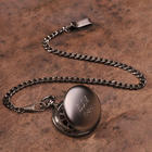 Classic Gunmetal Personalized Pocket Watch