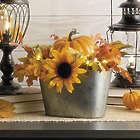 Harvest Floral Arrangement in Bucket Fall Decoration