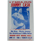 Johnny Cash Radio City Poster