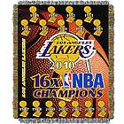 Lakers Champs NBA Commemorative Throw Blanket