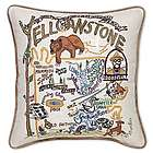 Hand Embroidered Yellowstone Pillow