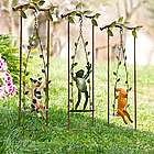 Recycled Metal Swinging Animal Garden Stake