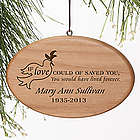 Forever Loved Personalized Memorial Christmas Ornament