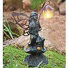 Fairy with Solar Wand Flower Light