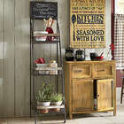 Chalkboard Basket Rack