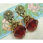 Ruby Red Petite Drop Earrings