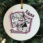 Personalized Ceramic Dance Ornament