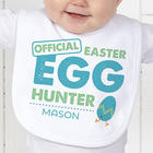 Easter Egg Hunter Personalized Infant Bib