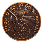 Pinecone Indoor or Outdoor Thermometer and Wall Clock