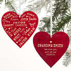 Personalized Close To Her Heart 2 Sided Name Ornament
