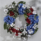Red, White and Blue Floral Wreath