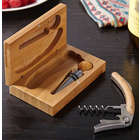 Richland Bamboo Wine Tool Set in Engravable Box