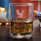 Patriot's Personalized Hand-Blown Bourbon Glass