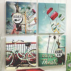4 Outdoor Retro Canvas Prints