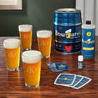 Personalized Classic Pint Set and Brew Barrel Beer Making Kit