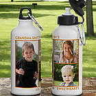 Personalized Picture Perfect Three Photo Water Bottle