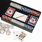 Personalized Leather Professional Poker Set