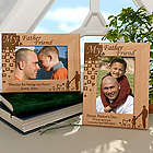 Personalized A Father is a Friend Wooden Picture Frame