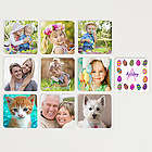 Colorful Eggs Personalized Easter Photo Memory Game
