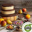 Organic Fruits and Snacks Gift Tower