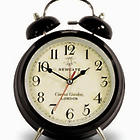 Large Covent Garden Alarm Clock in Black
