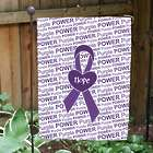 Awareness Purple Ribbon Garden Flag