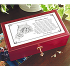 Personalized Daddy's Hand/Grandpa's Hand Keepsake Box