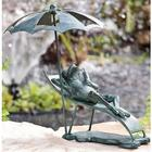 Beach Chair Frog Cast Iron Garden Statue