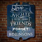 Personalized Love the Nights Wood Sign