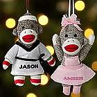 Personalized Sock Monkey Activity Ornament