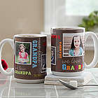 Loving You Personalized Photo Coffee Mug for Him